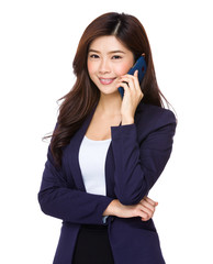 Businesswoman with the smart phone