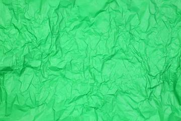 Crumpled green paper texture