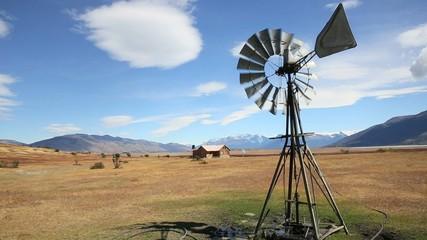 Windmill in Argentinian farmland