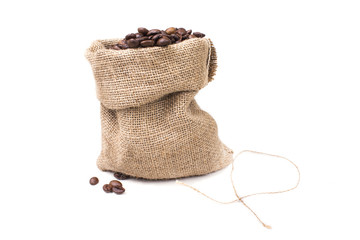 one small bag of black coffee