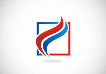 swirl abstract vector icon logo
