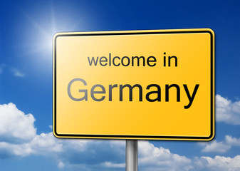 Welcome in Germany Sign Background