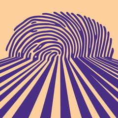 abstract fingerprint