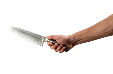 Male Hand Holding Sharp Knife