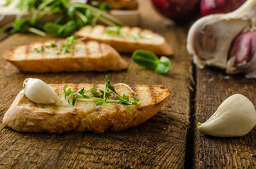 Garlic toast toasted panini