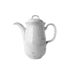 Water drops on white porcelain Coffee Pot