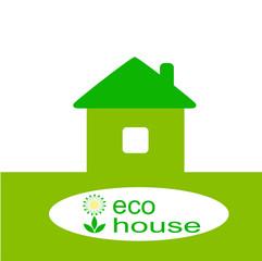eco house, vector