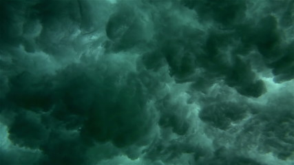 Super Slow Motion Underwater Crashing Wave