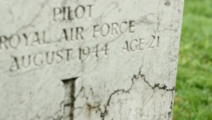 WWII British Pilot Grave