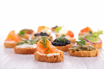 assortment of canape