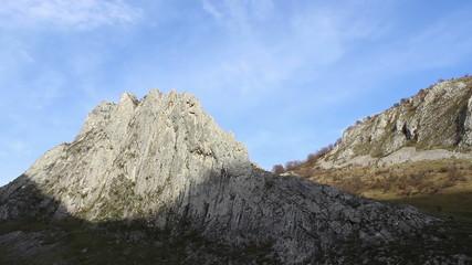 Angular Mountain Ridge Timelapse