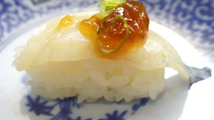 Japanese traditional variety food, sushi, nigiri, set food video
