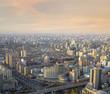 Beijing sunset cityscape