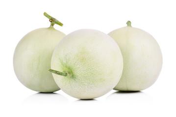 Honeydew Melon on White Background