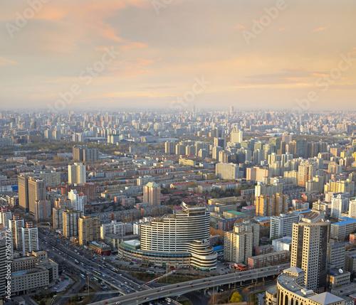 Foto op Aluminium Beijing Beijing sunset cityscape