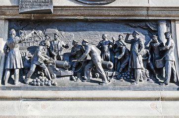 Bas-relief on the monument to Admiral Nakhimov