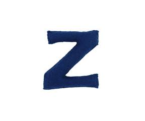 Handmade letter from fabric alphabet
