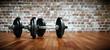 Hanteln im Fitnessraum - 79673567