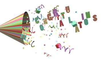 Gefeliciteerd feest toeter