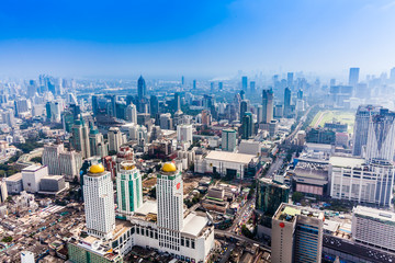 City town, View Point on top of building, Bangkok, Thailand. Cit
