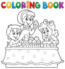 Coloring book Easter topic image 1