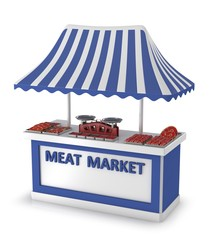 Stand for the meat trade