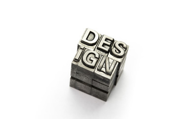 Design word, letterpress block letter