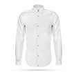 Vector illustration of dress shirt (button-down). Front view