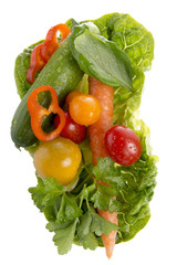 Salatzutaten, Tomaten, Paprika, Snackgurke