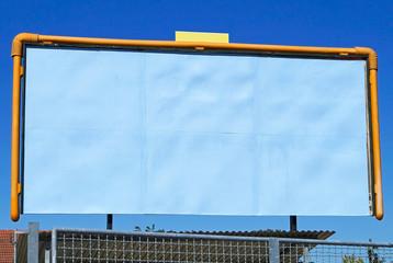 Large blank billboard on the street