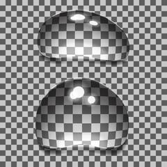 Set of transparent bubbles