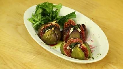 Figs stuffed with arugula