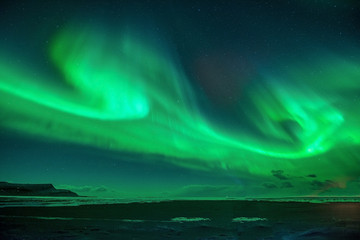 A beautiful green  aurora.