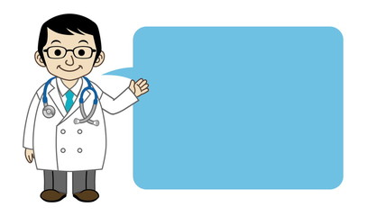 Doctor explaining by Speech Bubble -Animation