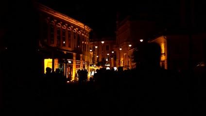 Night Crowdy Downtown