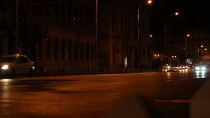 Night Avenue Rush Traffic