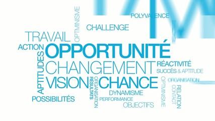 Opportunité changement chance nuage de mots tag cloud