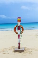 Life belt at the beach in Fuerteventura