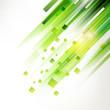 Abstract green geometric corner elements