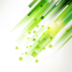 Abstract green geometric corner elements