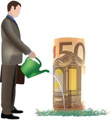 uomo innaffia 50 euro
