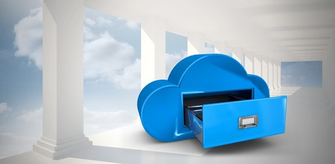 Composite image of cloud computing drawer