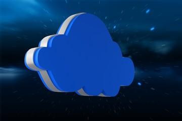 Composite image of blue cloud