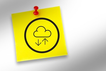 Composite image of cloud computing graphic