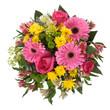 Bouquet made of  Alstroemeria, Gerber, Rose and Chrysanthemum fl