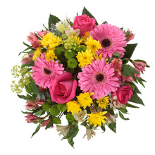 "Постер, картина, фотообои ""Bouquet made of Alstroemeria, Gerber, Rose and Chrysanthemum fl"""
