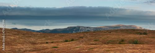 High mountain plateau and 'Demerji' mountain. Crimea