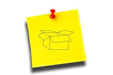 Composite image of open box