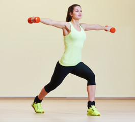 fitness excercises with dumbbells