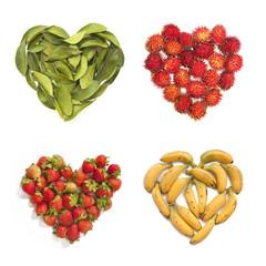 Heart-shaped fruits
